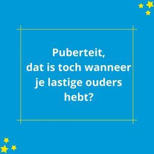Pubers | Twinkeltje Opvoedondersteuning Rotterdam